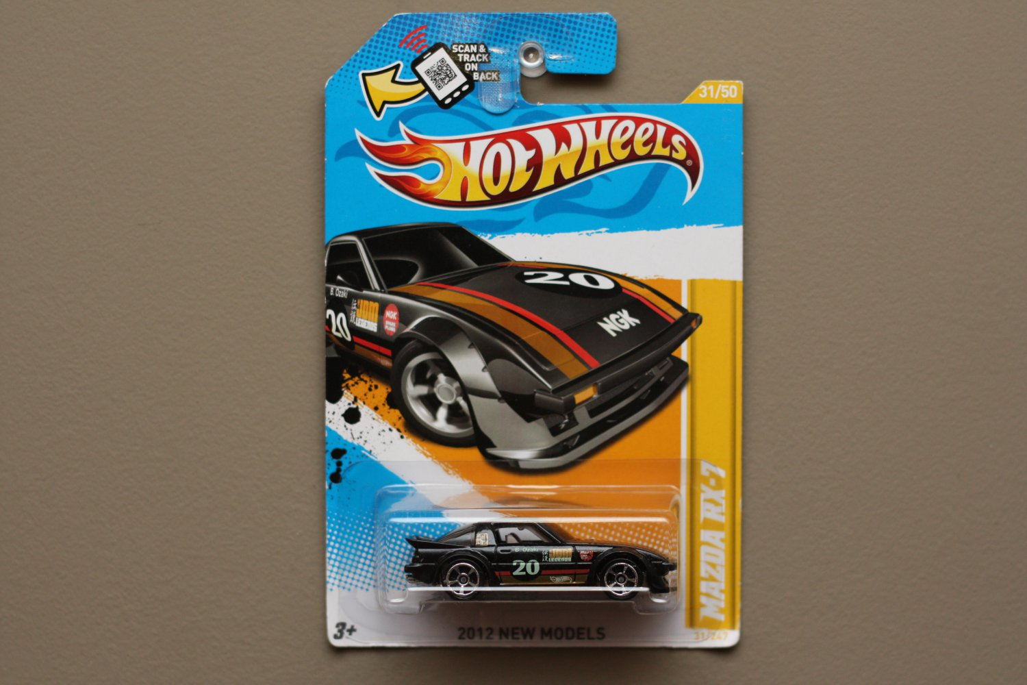 Hot Wheels 2012 New Models Mazda RX-7 (black) (SEE CONDITION)