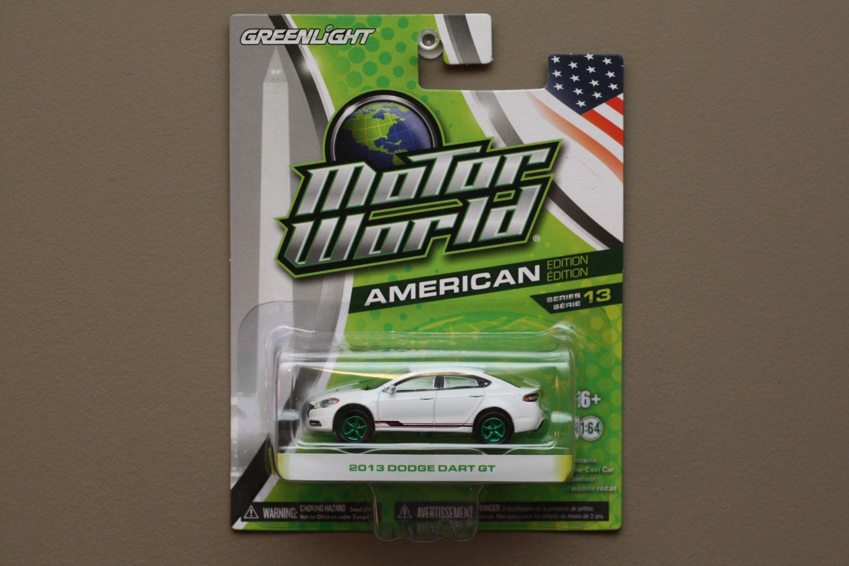 Greenlight Motor World Series 13 American Ed. '13 Dodge Dart GT (white) (Green Machine)