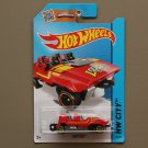 Hot Wheels 2015 HW City Loopster (red) (hands up variation) (SEE CONDITION)