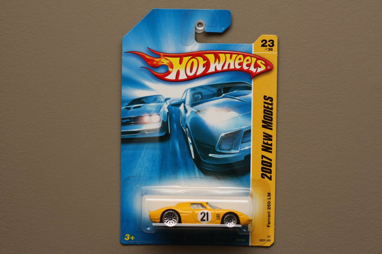 Hot Wheels 2007 New Models Ferrari 250 LM (yellow)