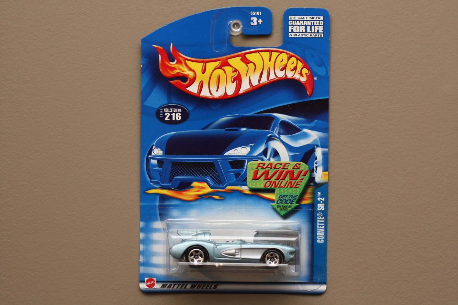 Hot Wheels 2002 Collector Series Corvette SR-2 (pearlescent blue)