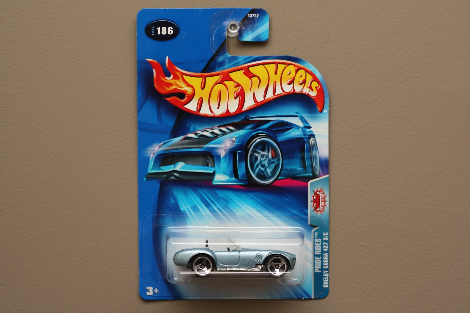 Hot Wheels 2004 Pride Rides Shelby Cobra 427 S/C (pearlescent blue)
