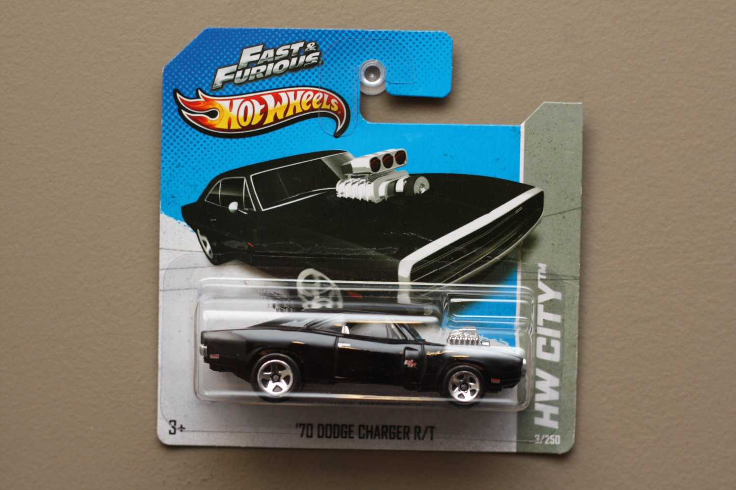 Hot Wheels 2013 HW City '70 Dodge Charger R/T (black) (Fast & Furious) (SEE CONDITION)