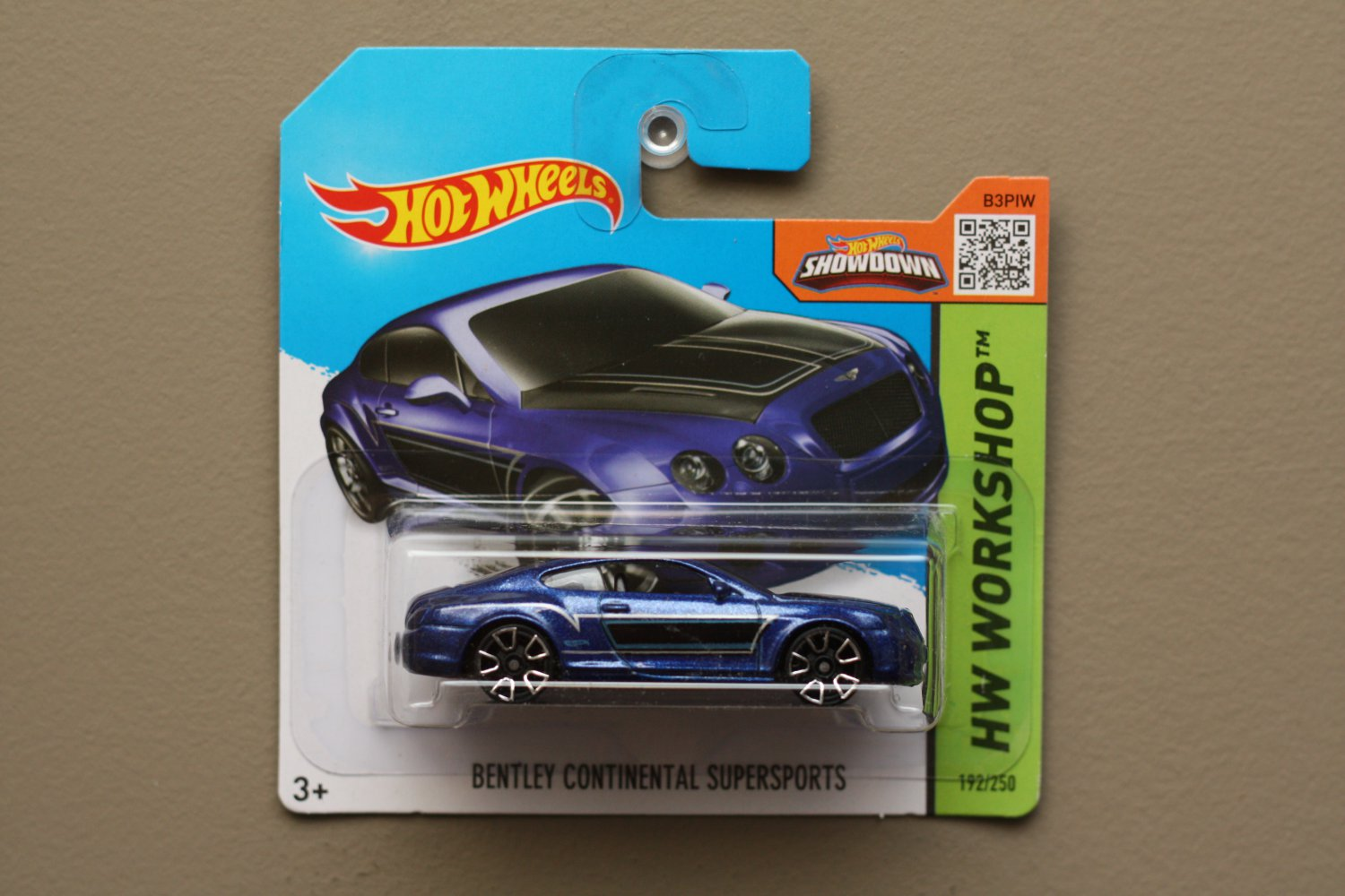 Hot Wheels 2015 HW Workshop Bentley Continental Supersports (blue)