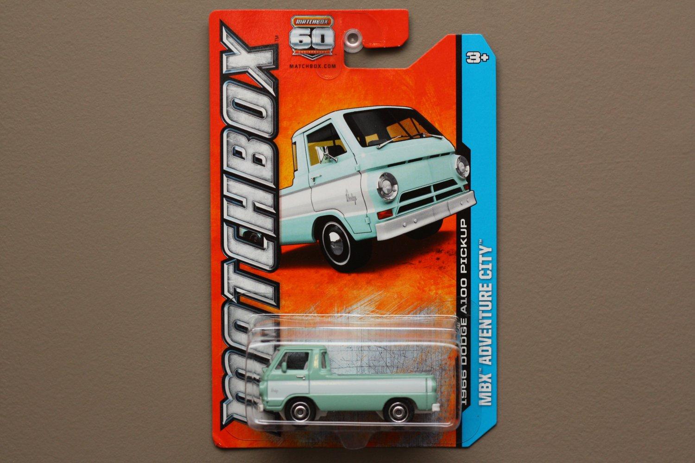 Matchbox 2013 MBX Adventure City '66 Dodge A100 Pickup (mint green)