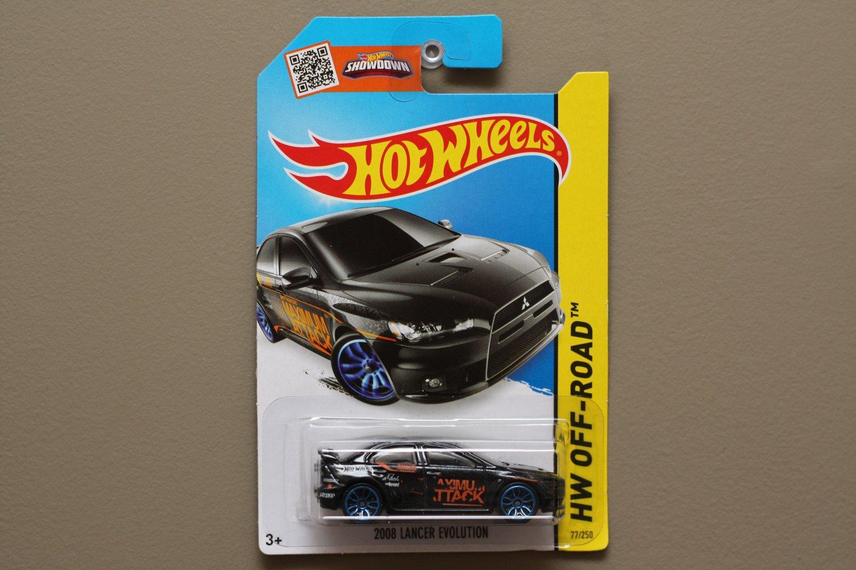 [TAMPO ERROR] Hot Wheels 2015 HW Off-Road 2008 Mitsubishi Lancer Evolution (black)