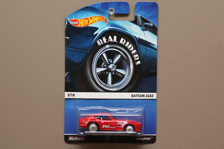 Hot Wheels 2015 Heritage Real Riders Datsun 240Z
