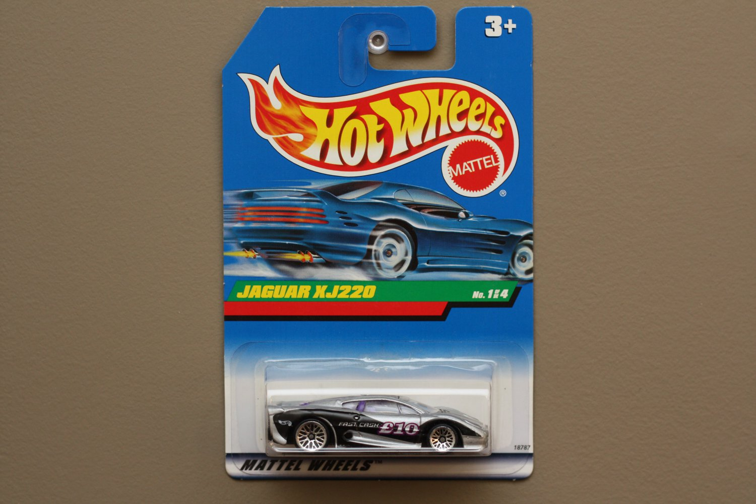 Hot Wheels 1998 Dash 4 Cash Series Jaguar XJ220 (silver)
