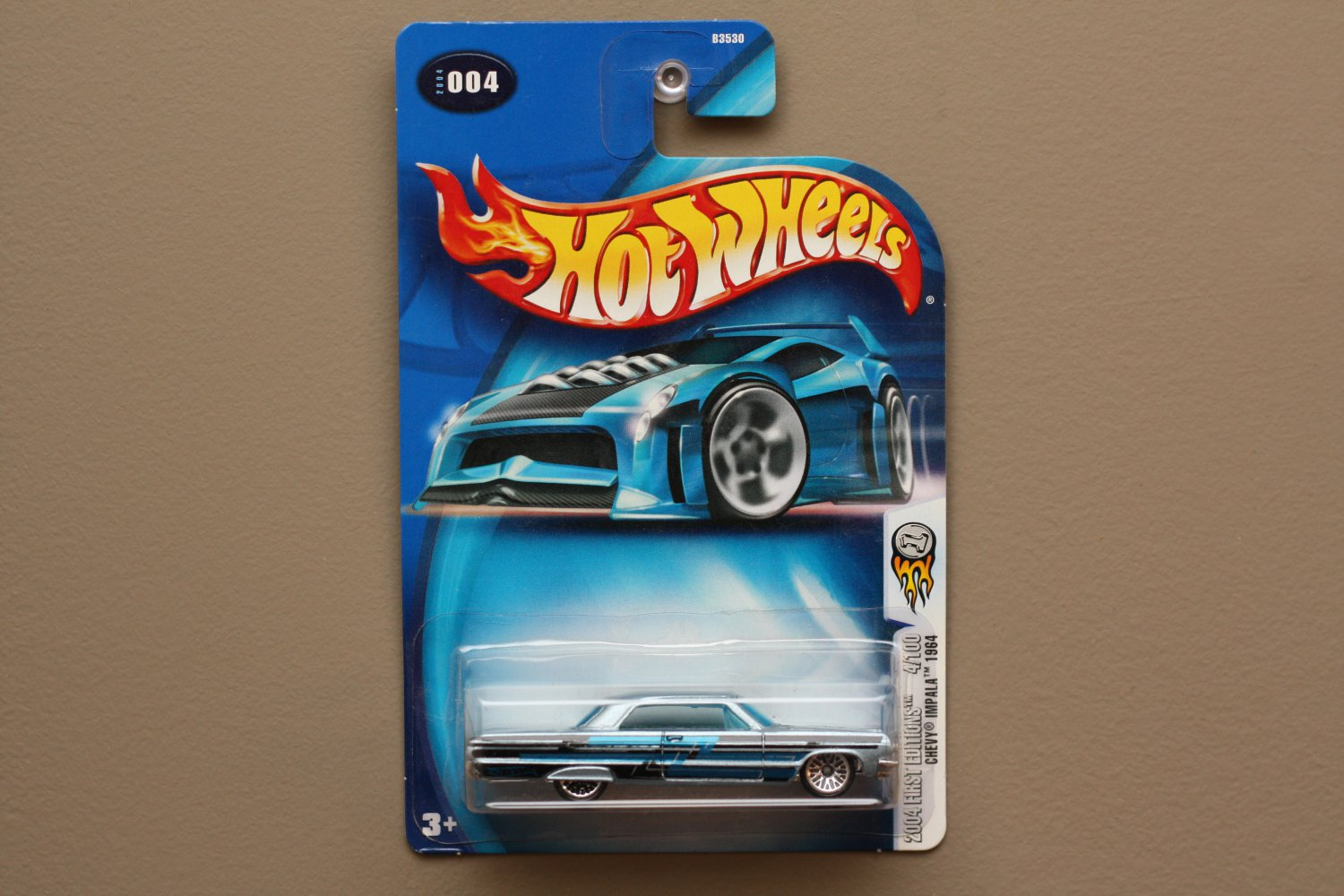 Hot Wheels 2004 First Editions '64 Chevy Impala (pearlescent blue)
