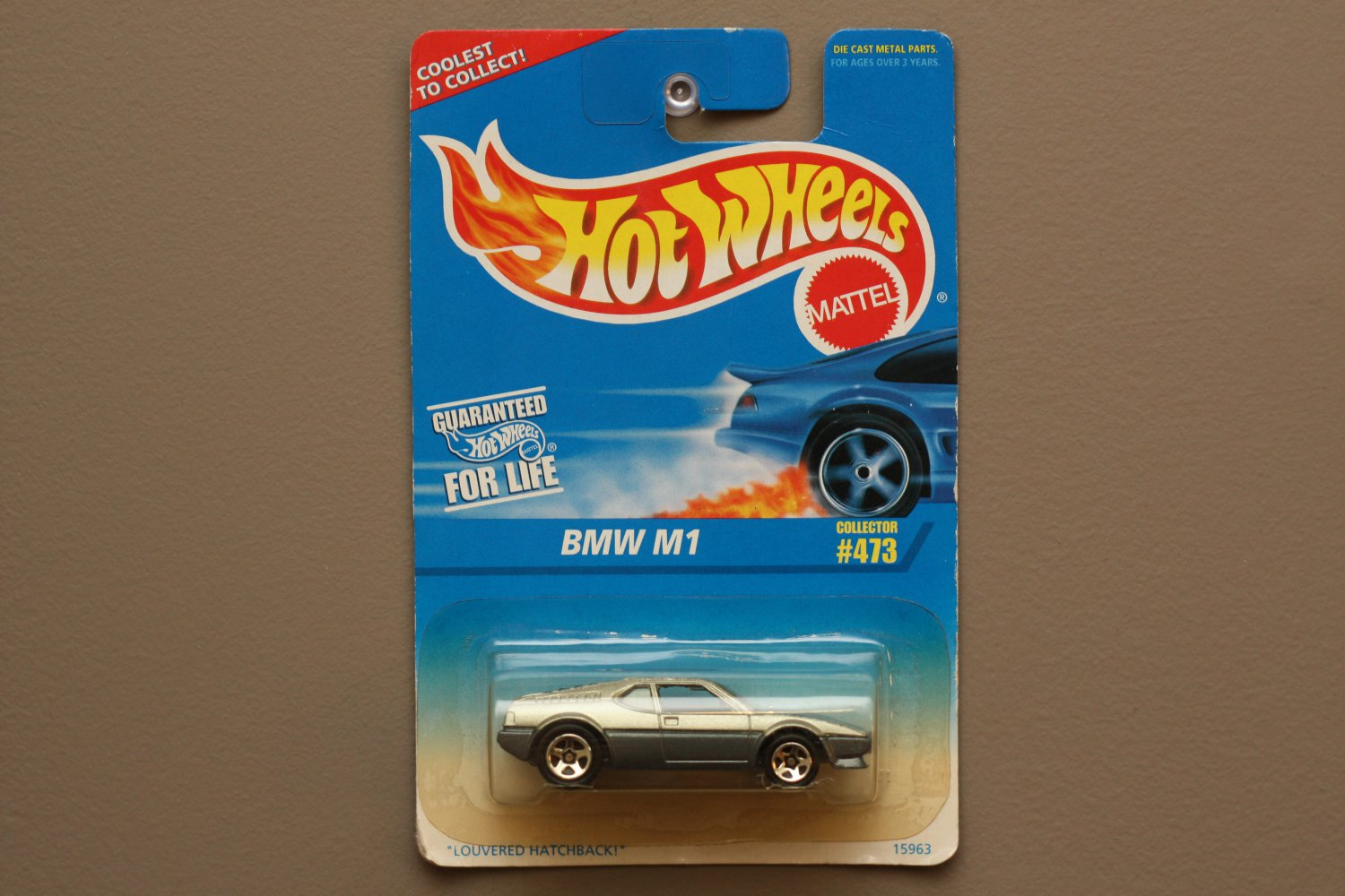 Hot Wheels 1996 Collector Series BMW M1 (Street Beast) (silver/grey) (SEE CONDITION)