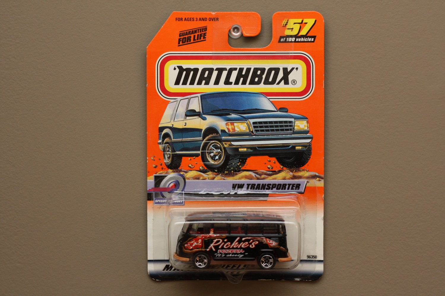Matchbox 2000 Series 12 Volkswagen Transporter (black)