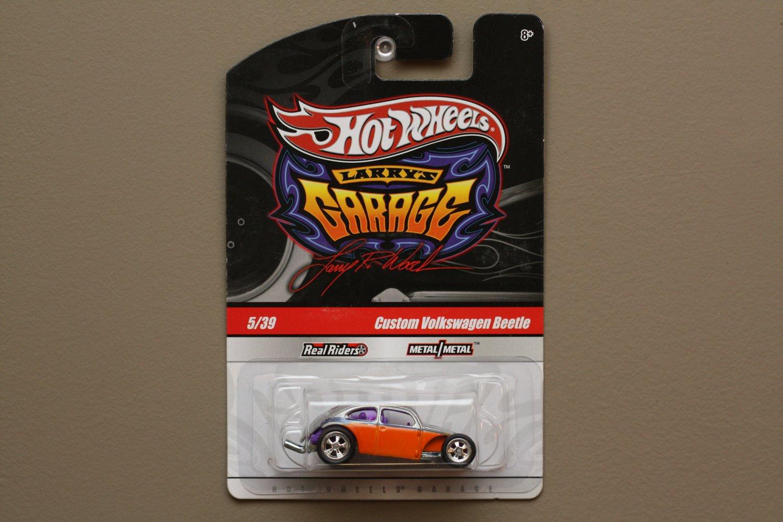 Hot Wheels 2010 Larry's Garage Custom Volkswagen Beetle (silver/orange)