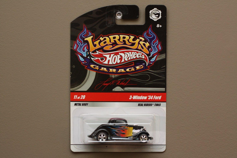 Hot Wheels 2009 Larry's Garage 3-Window '34 Ford (black)