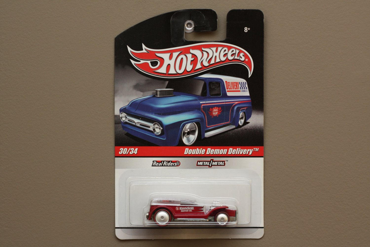 Hot Wheels 2010 Delivery Double Demon Delivery (silver/red)