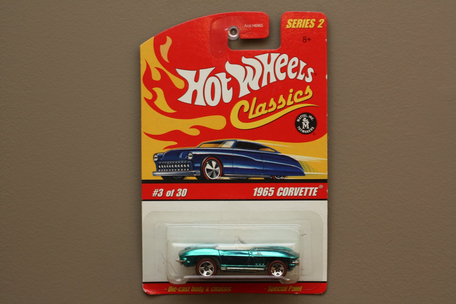 Hot Wheels 2006 Classics Series 2 1965 Corvette (chrome teal)