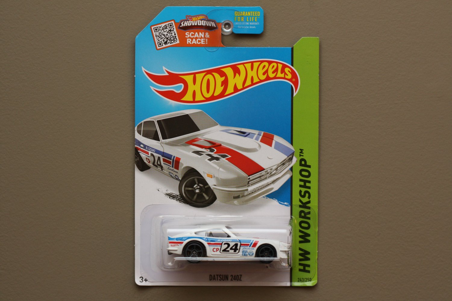 Hot Wheels 2015 HW Workshop Datsun 240z (white) (SEE CONDITION)