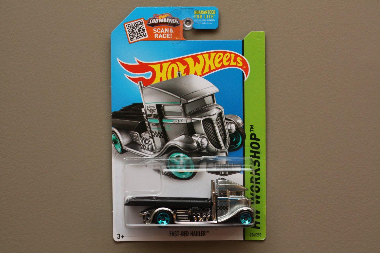 Hot Wheels 2015 HW Workshop Fast-Bed Hauler (ZAMAC silver - Walmart Excl.)
