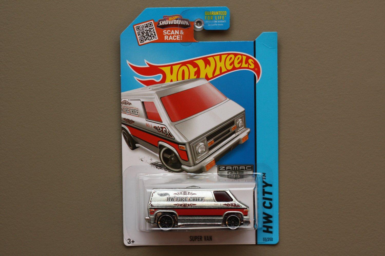 Hot Wheels 2015 HW City Super Van (ZAMAC silver - Walmart Excl.) (SEE CONDITION)
