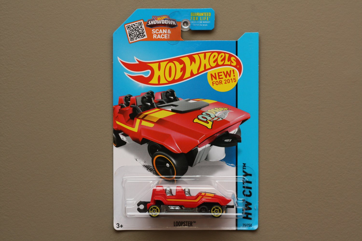 Hot Wheels 2015 HW City Loopster (red) (hands down variation)