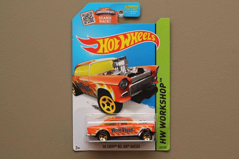 Hot Wheels 2015 HW Workshop '55 Chevy Bel Air Gasser (orange) (SEE CONDITION)