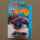 Hot Wheels 2015 HW City Loopster (blue) (hands up variation)