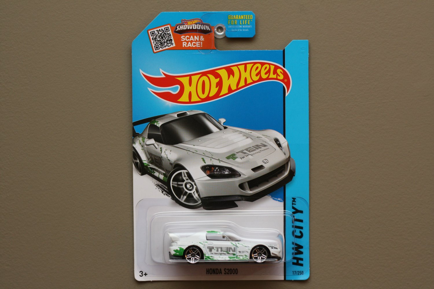 Hot Wheels 2015 HW City Honda S2000 (white) (SEE CONDITION)