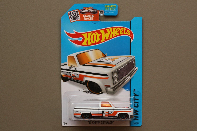 Hot Wheels 2015 HW City '83 Chevy Silverado (white - Toys R Us Excl.)