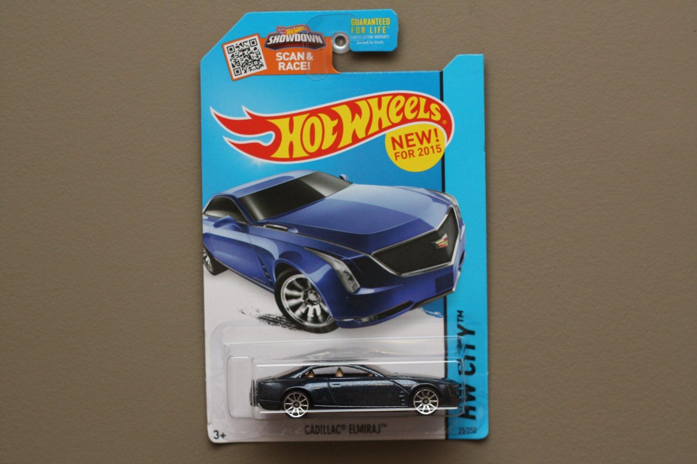 Hot Wheels 2015 HW City Cadillac Elmiraj (blue) (SEE CONDITION)