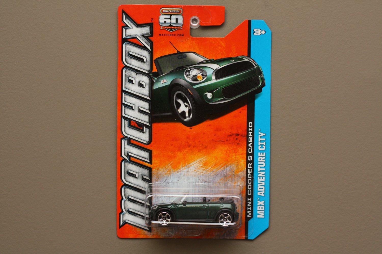 Matchbox 2013 MBX Adventure City Mini Cooper S Cabrio (green)
