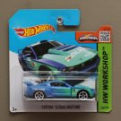 Hot Wheels 2015 HW Workshop Custom '12 Ford Mustang (blue) (SEE CONDITION)