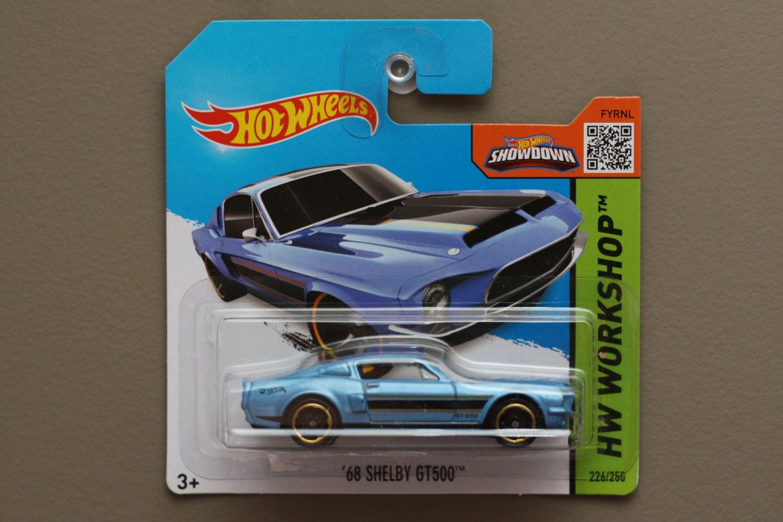 Hot Wheels 2015 HW Workshop '68 Shelby GT-500 (blue)
