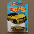Hot Wheels 2015 HW City BMW M4 (dark yellow)