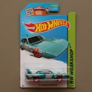 Hot Wheels 2015 HW Workshop '70 Plymouth Superbird (teal) (SEE CONDITION)