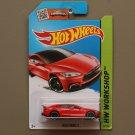 Hot Wheels 2015 HW Workshop Tesla Model S (red) (SEE CONDITION)