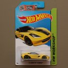 Hot Wheels 2015 HW Workshop '14 Corvette Stingray (yellow) (SEE CONDITION)