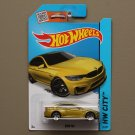 Hot Wheels 2015 HW City BMW M4 (dark yellow)