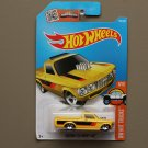 Hot Wheels 2016 HW Hot Trucks Custom '72 Chevy Luv (yellow) (small rear wheels) (SEE CONDITION)
