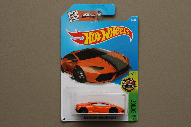 Hot Wheels 2016 Hw Exotics Lamborghini Huracan Lp 610 4 Orange See Condition