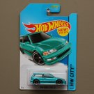 [TAMPO ERROR] Hot Wheels 2014 HW City 1990 Honda Civic EF (turquoise)