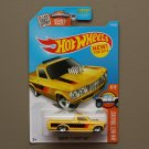 Hot Wheels 2016 HW Hot Trucks Custom '72 Chevy Luv (yellow) (big rear wheels)