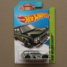 Hot Wheels 2015 HW Workshop '71 Datsun Bluebird 510 Wagon (black - Kmart Excl.)
