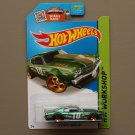 Hot Wheels 2015 HW Workshop '70 Chevy Chevelle (green - Kmart Excl.)