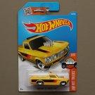 Hot Wheels 2016 HW Hot Trucks Custom '72 Chevy Luv (yellow) (small rear wheels)