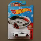 Hot Wheels 2016 Then And Now '14 Corvette Stingray Convertible (white) (Snowflake)