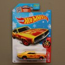 Hot Wheels 2016 HW Flames '69 Dodge Charger (yellow) (Snowflake)