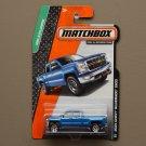 Matchbox 2014 MBX Explorers '14 Chevy Silverado 1500 (blue)