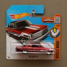 Hot Wheels 2016 Muscle Mania '63 Chevy II (red) (SEE CONDITION)