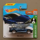Hot Wheels 2016 HW Green Speed Tesla Model S (blue)