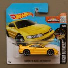 Hot Wheels 2016 Nightburnerz Custom '01 Acura Integra GSR (yellow) (SEE CONDITION)