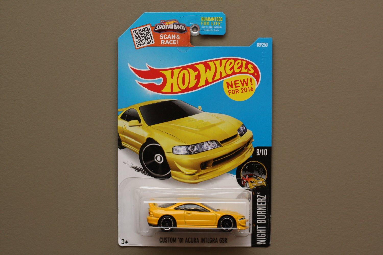 Hot Wheels 2016 Nightburnerz Custom 01 Acura Integra Gsr Yellow